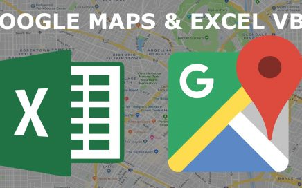 Google Maps and Excel VBA