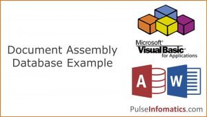 Microsoft Access and Word VBA Document Assembly Demo