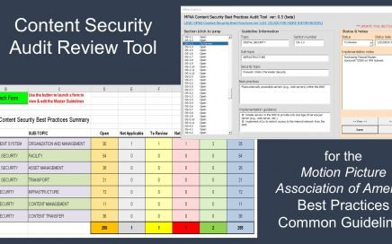 MPAA Content Security Best Practices Common Guidelines Audit Tool